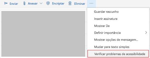 Ferramenta verificar problemas de acessibilidade no Outlook online