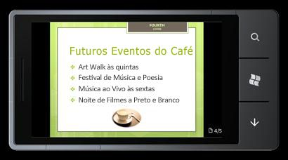 PowerPoint Mobile 2010 para o Windows Phone 7: Editar e ver a partir do seu telemóvel