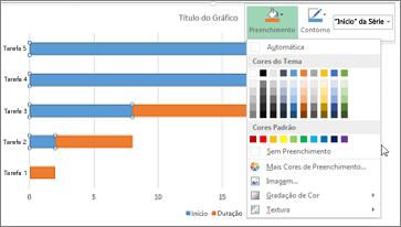 gráfico de barras 2D empilhado