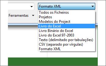 Selecione o livro do Excel a abrir para obter os dados