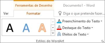 Grupo Estilos WordArt