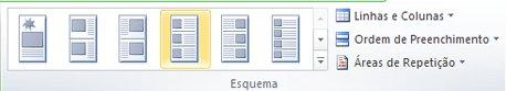 Opções de esquema de intercalação de catálogo