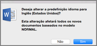 Idioma Predefinido no Office para Mac