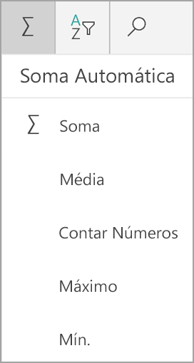 Soma do Excel para tablets do Windows
