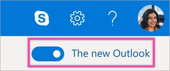Experimentar o novo botão de alternar do Outlook