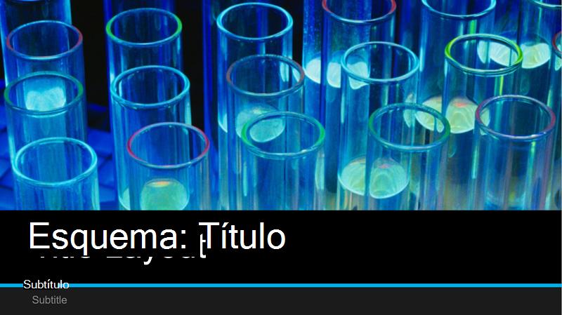 Captura de ecrã da capa de uma apresentação de laboratório