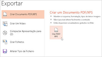 Guardar uma apresentação como PDF