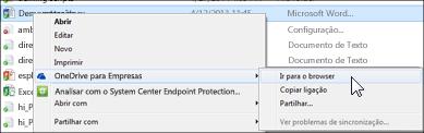 Ver um ficheiro numa pasta sincronizada num browser