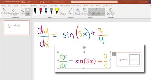 Tinta Digital em Matemática