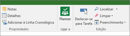 Imagem do botão do Planner no friso Tarefa