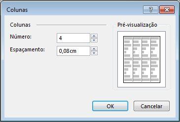 Captura de Ecrã da Opção Mais Colunas das Ferramentas de Caixa de Texto no Publisher.