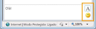 Botões de formatação de MI