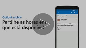 Miniatura do vídeo Enviar disponibilidade para reunião - clique para reproduzir