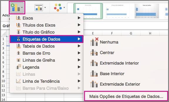 Adicionar Elementos do Gráfico no Office para Mac