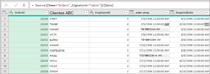 Lista pendente de caixa de verificação numa folha de dados