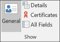 Selecione detalhes para introduzir informação de contacto adicional.