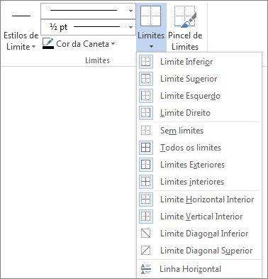 Localização de limites de tabela