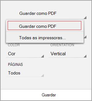 Selecione guardar como PDF