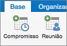 Botões Compromisso e Reunião