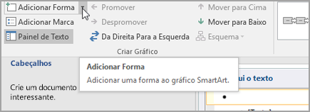 Adicionar uma forma ao gráfico SmartArt