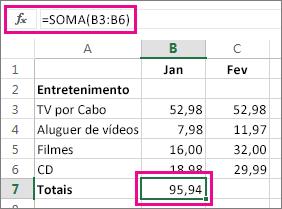 Apresentação do resultado do exemplo de Soma Automática