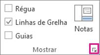 Localização do iniciador de caixa de diálogo