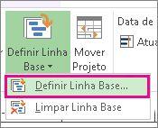 Definir uma linha base para o seu projeto