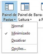 No menu Painel de Pastas, está selecionada a opção Normal.
