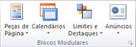 Grupo Blocos Modulares no Publisher 2010