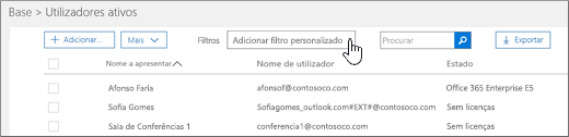 Adicionar filtro personalizado