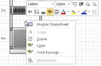 Clique com o botão direito do rato para colar uma forma copiada na localização em que clicou.