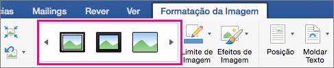No separador Formatação da Imagem, a galeria limite da imagem está realçada.