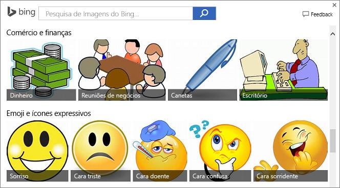 Exemplos de imagens da Web