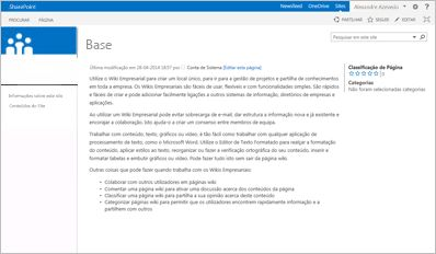 Modelo de Site de Wiki Empresarial