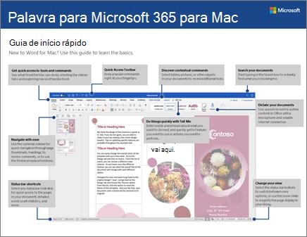 Guia de Introdução do Word 2016 para Mac