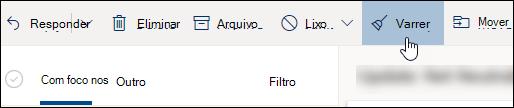 Uma captura de ecrã a mostrar o botão Varrer
