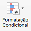 Botão Formatação Condicional