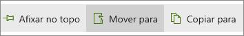 Botão Mover Para no menu principal