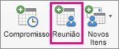 A opção de Reunião é realçada no separador Base
