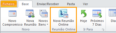 Imagem do friso do Outlook