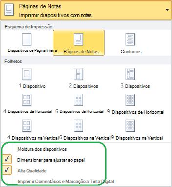 Opções de esquema extra