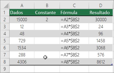 Multiplicar números por uma constante