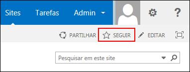Siga um site no SharePoint Online e adicione a ligação à sua página Sites no Office 365.