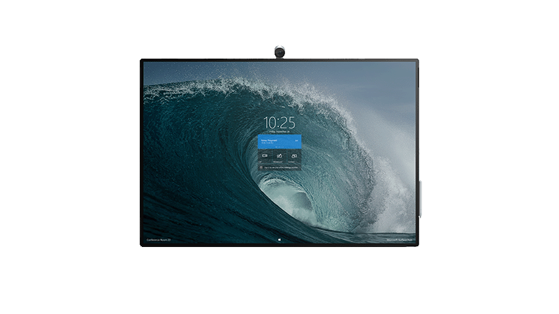 Fotografia do Surface Hub