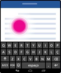 Ativar o teclado no ecrã