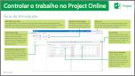 Guia de Introdução Controlar o Trabalho no Project Online