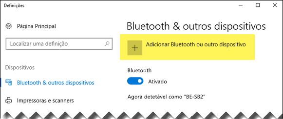 Adicionar um dispositivo Bluetooth