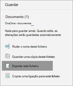 Exportar este ficheiro