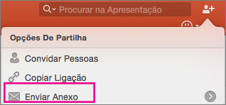 PPT para Mac: Enviar Anexo