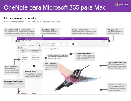 Guia de Introdução do OneNote 2016 para Mac